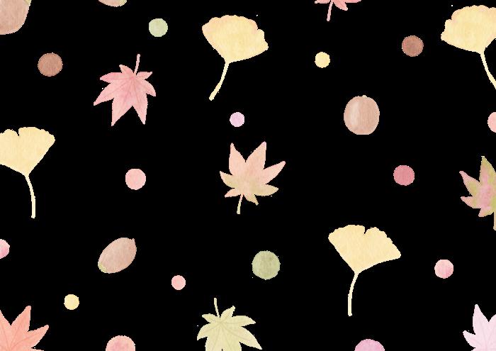 秋の葉っぱの水彩イラスト素材
