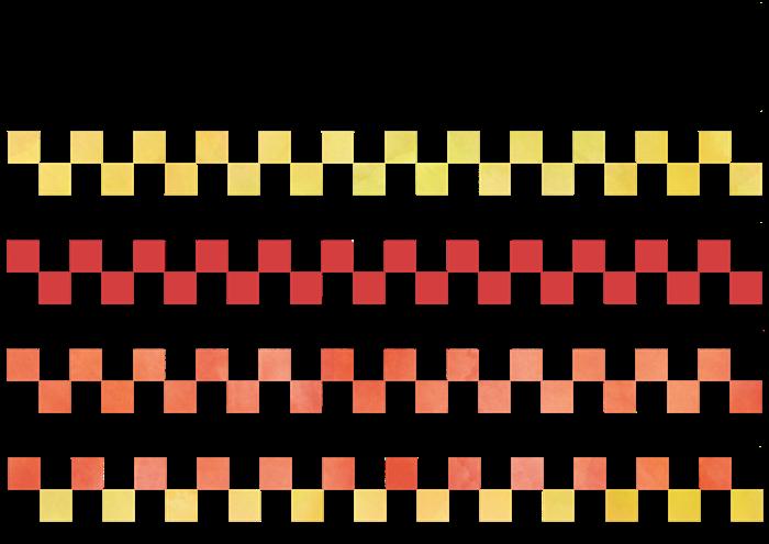 市松模様のライン素材
