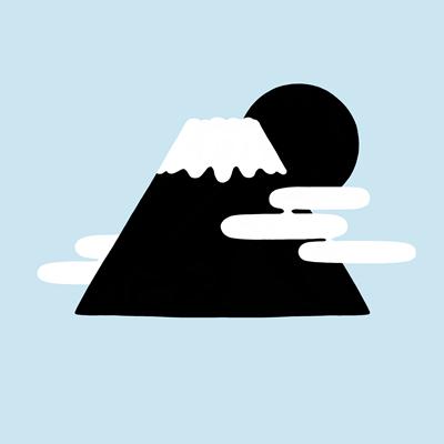 山の線画素材