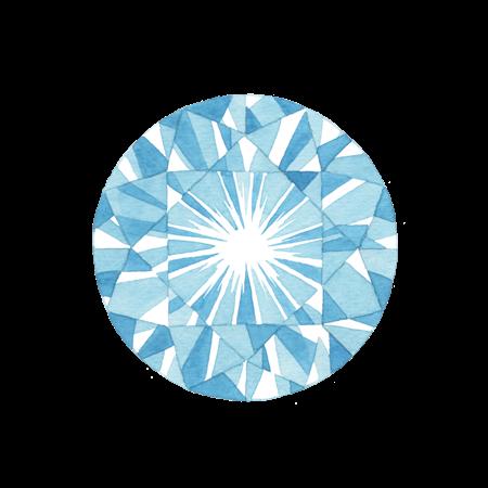 宝石の水彩イラスト