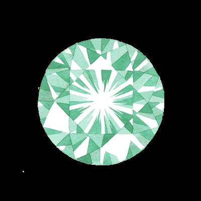 宝石の水彩イラスト素材